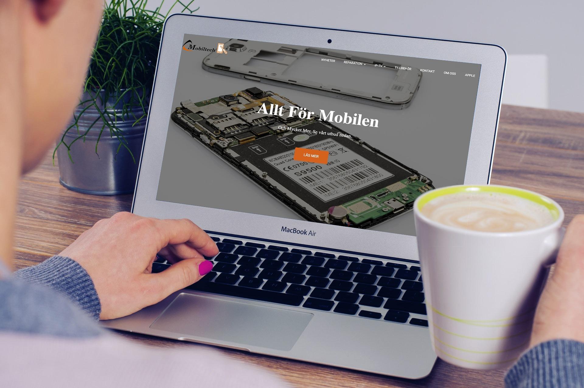 Mobiltech Webbsida